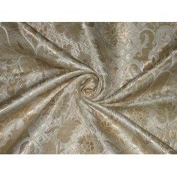 "Heavy Silk Brocade Fabric Metallic Gold & Ivory 36"" width    Item condition: New"