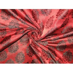 Pretty Pure Silk Broacde Fabric available in 4 colours please mention color u choose
