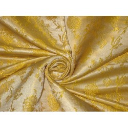 Silk Brocade fabric Yellow & Faint Blue Colour BRO89[4]