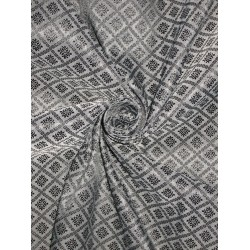 Silk Brocade fabric Grey & Black Color BRO161[3]