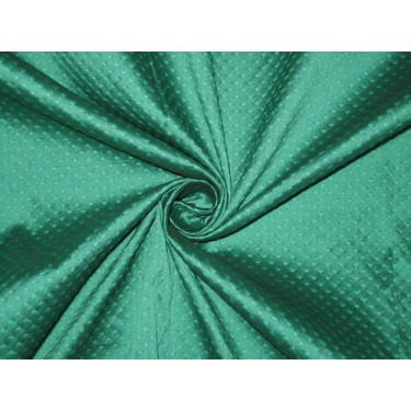 Spun Silk Brocade Fabric dark  Green 44""