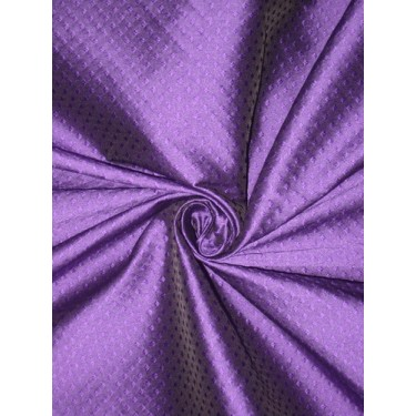 Spun Silk Brocade Fabric Purple 44""