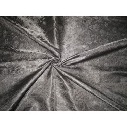 "SILK BROCADE FABRIC JET BLACK color 44"" BRO176[5] BY THE YARD"