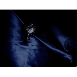"100% Silk Satin fabric 44"" -navy blue"