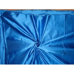 "33 momme silk  reversible satin fabric customized blue 44"" wide"