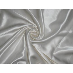 "40 MOMME SILK PLATINIUM Reversible  SATIN FABRIC PEARLWhite 54"" WIDE"
