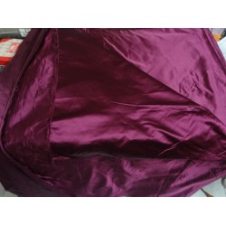 "66 MOMME SILK DUTCHESS SATIN FABRIC dark Aubergine color 54""*"