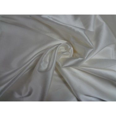 "Silk satin with lycra/spandex 44"" wide~  ivory**"