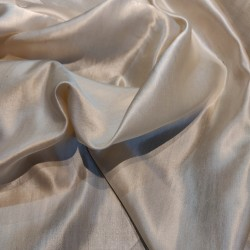 "Tussar silk satin (pure silk) fabric 44"" wide for saree's / dresses/ westernwear sold by the yard"