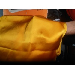 "viscose Rayon Satin FABRIC 44""-mustard gold  colour"
