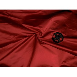 "53 momme Polyester Dutchess Satin 54"" wide-red  x black"