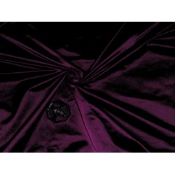 "53 momme Polyester Dutchess Satin 54"" wide-aubergine x black"