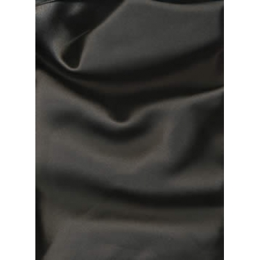 "100% Silk Satin fabric 44""-black 100 gms"