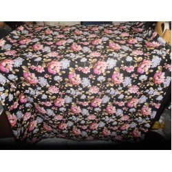 "dark floral print Scuba Knit fabric 59"" wide- for fashion wear"