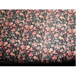 "dark tiny floral print Scuba Knit fabric 59"" wide- for fashion wear"