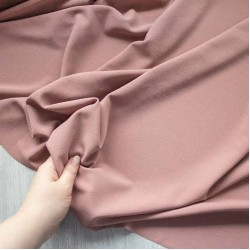 Old Rose scuba crepe Lycra fabric 58 inch wide