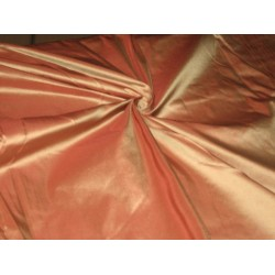 "100% Pure SILK TAFFETA FABRIC Rusty Brown Gold Shot TAF53[1] 54"" wide sold by the yard"