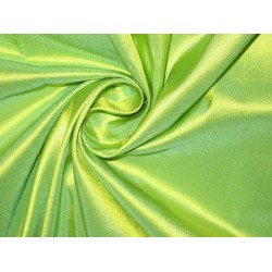 "Pure SILK TAFFETA FABRIC Lime Green color 80 gms 54"" wide sold by the yard"