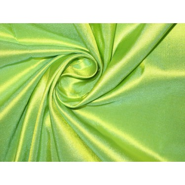 """Pure SILK TAFFETA FABRIC Lime Green color 80 gms 54"""" wide sold by the yard"""