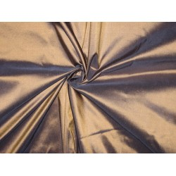 100% Pure SILK TAFFETA FABRIC Gold with Ink Blue Shot TAF81