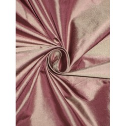 100% Pure SILK TAFFETA FABRIC Dusty Purple with Ivory Shot color