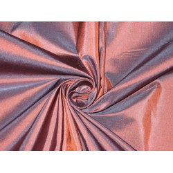 100% Pure SILK TAFFETA FABRIC Blue with Orange Shot color TAF#176[1]
