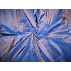 "SILK TAFFETA FABRIC 44"" electric blue with brown shot"