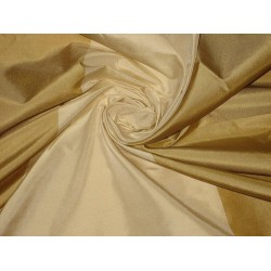 "Silk taffeta fabric mustard yellow & gold cream stripes 54""wide-#Taf#S42 54"" wide sold by the yard"