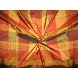 "Silk Taffeta Fabric Multi colour plaids 54"" wide sold by the yard"