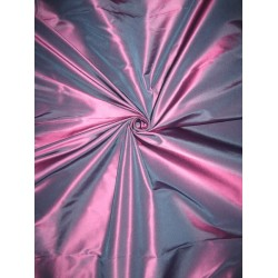 "Pure Silk Taffeta fabric~ 54""~Blue with Pink Shot color TAF180[2]"