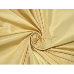 "Pure Silk Taffeta fabric~ 60""~Golden Cream"