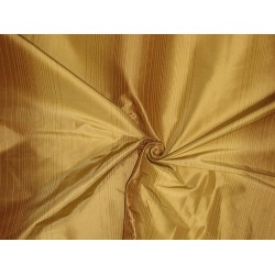 "Silk Taffeta Fabric Shades of Gold stripes 54"" wide sold by the yard"
