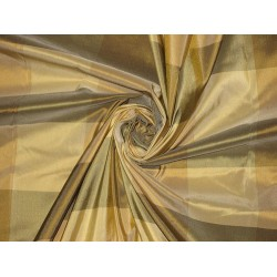 SILK TAFFETA FABRIC Multi colour plaids