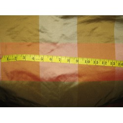"SILK TAFFETA FABRIC 54"" Multi colour plaids"