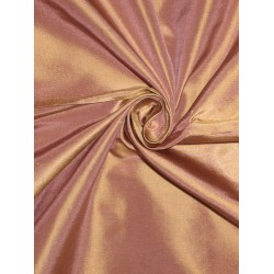 SILK TAFFETA FABRIC Pinkish Lavender with Gold shot 54""