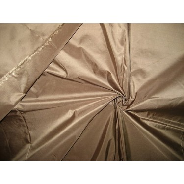 100% Pure SILK TAFFETA FABRIC Dark Taupe.TAF64[3]