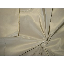 Pure SILK TAFFETA FABRIC Beigeish Cream 60""