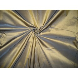 100% Pure Silk Taffeta Fabric Gold Glitter X Blue Shot Cut Length 5.70