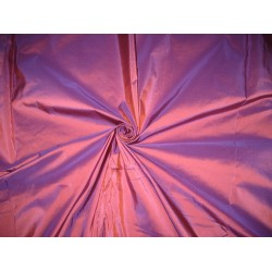 "100% Pure SILK TAFFETA FABRIC Purple x Orange Shot 44""TAF56"
