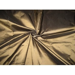 100% Pure SILK TAFFETA FABRIC Brown x Black Shot color