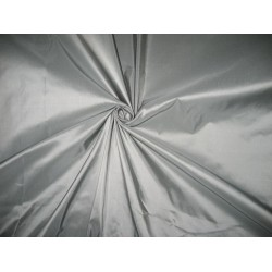 "100% Pure Silk Taffeta Fabric Silver 54"" 3.70 Cut Length"