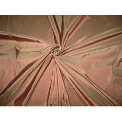 "100% Pure SILK TAFFETA FABRIC Rosette with beige shot 54"" wide sold by the yard"