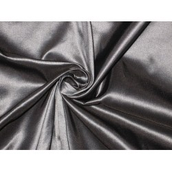 "100%SILK TAFFETA FABRIC Steel Silver x Black Shot  SINGLE LENGTH OF 6.20YDS  60""TAF 65[5]"
