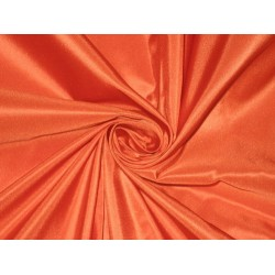 100% Pure SILK TAFFETA FABRIC Orange 60""