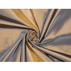 "100% Pure SILK TAFFETA FABRIC Brown x Blue Shot 54""TAF57[2]"