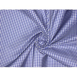 Heavy Quality SILK TAFFETA FABRIC Blue & Ivory plaids