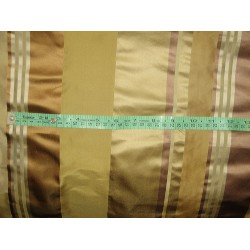 "SILK TAFFETA FABRIC Multi Color with satin Stripes 54"" wide sold by the yard"