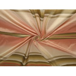 Silk Taffeta Fabric Multi colour stripes 54""