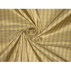 "100%  Silk Taffeta Fabric Brownish Grey,Brown & Gold plaids Taf#C2[1] 54"" wide by the yard"