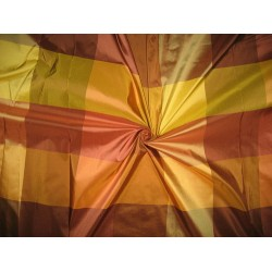 "100% Pure Silk Taffeta Fabric Multi Color plaids 54"" wide sold by the yard"